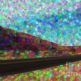 Colorized Desert Road by Katherine Erickson