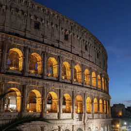 Colosseum at Night in City of Rome by Artur Bogacki