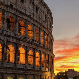 Colosseum in Rome at Sunset by Artur Bogacki