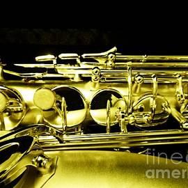 Colour Me Golden - Saxophone Close-up by Kathryn Jones