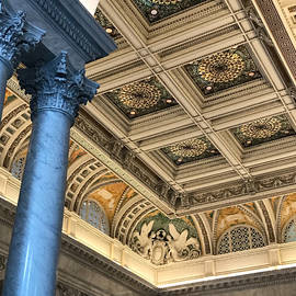 Column and Ornate Ceiling by Lee Darnell