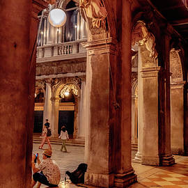 Colonnade off San Marco Square by Andrew Cottrill