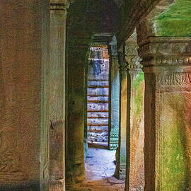 Columns Within Bayon Temple by Brian Shaw