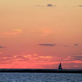 Come Sail Away into The Sunset by Nancy Spirakus