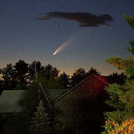 Comet NEOWISE over Barn by John Meader