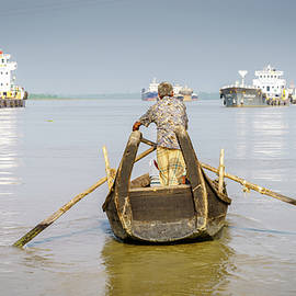 Commuting on the Karnaphuli River by Alexey Stiop