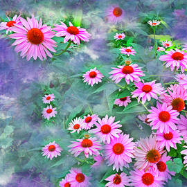 Coneflowers Textured Art by Aimee L Maher ALM GALLERY