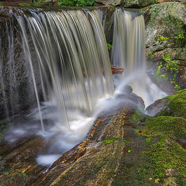 Connecticut Waterfalls Curtain by Juergen Roth