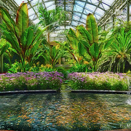 Conservatory in Abstract by Kathi Isserman