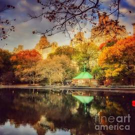 Conservatory Water in Fall - Central Park New York by Miriam Danar