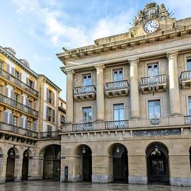 Constitution Square San Sebastian Spain by Joan Carroll