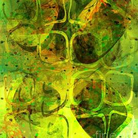Contemporary Abstract 351 Earth Vibes  by Sarah Niebank