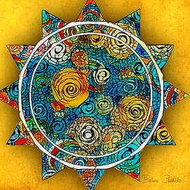 Contemporary Mosaic Sunstar by Barbara Chichester
