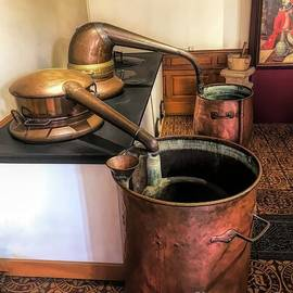 Copper Buckets at Hospices de Beaune  by Luther Fine Art