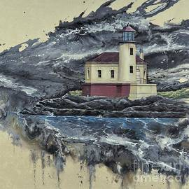Coquille River Lighthouse by Paul Henderson