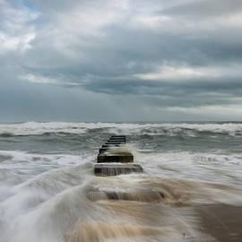 Coquina Beach Steps by Mike O'Shell