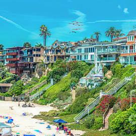 Corona del Mar Beach by David Zanzinger