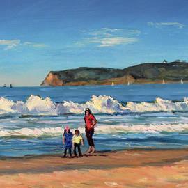 Coronado Beach Morning Walk by Robert Gerdes
