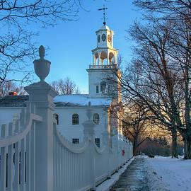 Country Church in Winter - Bennington, Vermont by Joann Vitali