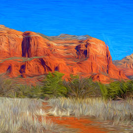 Courthouse Butte Painterly by Lorraine Baum