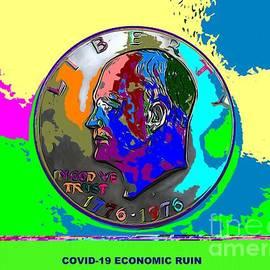 Covid-19 Eisenhower Dollar Colors by Joseph Baril