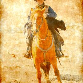 Cowboy Helps Calf by Kae Cheatham