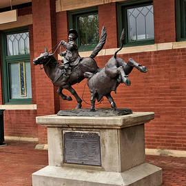 Cowboy Sculpture - Railroad Depot Lamar Colorado by John Trommer