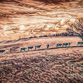Cows on a Hill ap by Dan Carmichael