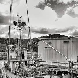 Crab Boat - Black And White by Beautiful Oregon