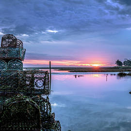 Crab Pots on the Jetty by Jim Key