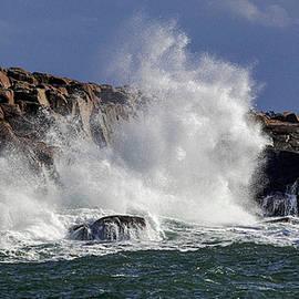 Crashing Surf At Schoodic 1 by Marty Saccone