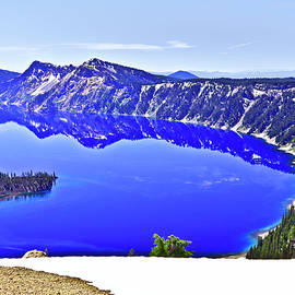 Crater Lake Refelctions 06 25 20 by Joyce Dickens