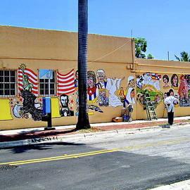 Creation of Colorful Mural in Little Havana, Miami by Lyuba Filatova