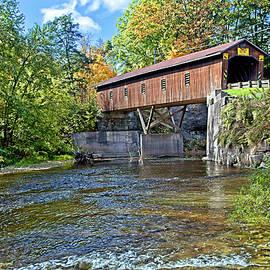 Creek Road Covered Bridge by Marcia Colelli