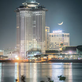 Crescent Moon Over The Crescent City by Chase This Light Photography