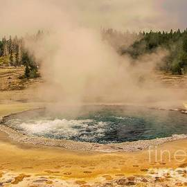 Crested Pool - Upper Geyser Basin - Yellowstone National Park by Jan Mulherin