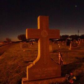 IHS Moon Setting Cross in Blue Twilight 10312020 by GJ Glorijean