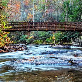 Crossing the Bridge at Fires Creek by Debra and Dave Vanderlaan