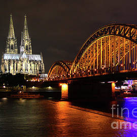 Crossing The Rhine, Cologne by Douglas Taylor