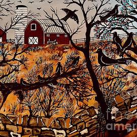 Crow's Morning Roost Painting by Jeffrey Koss