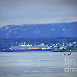 Cruise Ship At Haines by Robert Bales