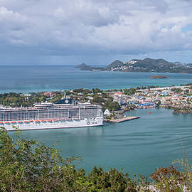 Cruise Ship in Port by Andrew Wilson