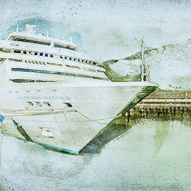 Cruise Ship in Watercolor by Gary McJimsey