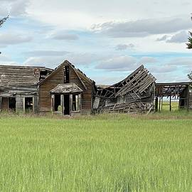 Crumbling Farmhouse  by Jerry Abbott