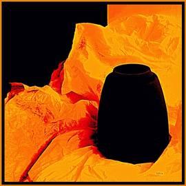 Crumpled Orange Tissue Wrap by VIVA Anderson