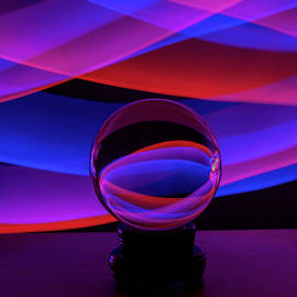 Crystal Ball Light Painting by Linda Howes