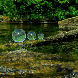 Crystal Balls by The Water by Linda Howes