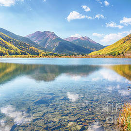 Crystal Lake Near Ouray Colorado by Priscilla Burgers
