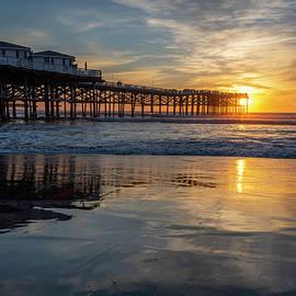 Crystal Pier Winter Sunset by Scott Cunningham