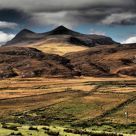 Cul Mor Mountain From Inchnadamph Remote Scotland by OBT Imaging